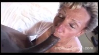 Granny blacks  old year fucks cum face