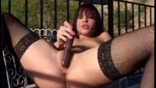 Go pussy fuck your fishnet stockings