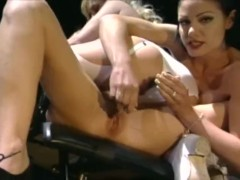 Lesbian nurses in lingerie get their pussies fingered and toyed