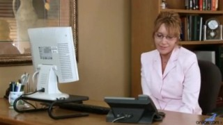 Horny office secretary milf masturbation Blonde brazzers.com