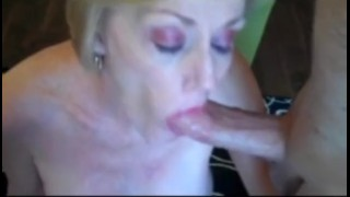 Cum faucet from drinking the cumshots mature