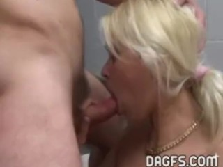 Chubby mom fucked in the garage