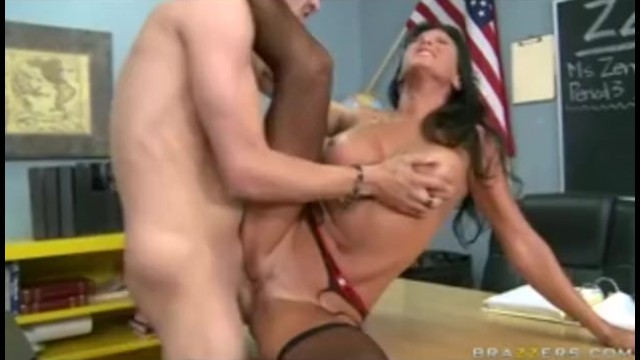Free lezley milf movie teacher zen Big tit brunette teacher in fishnets dominates student in school - brazzers