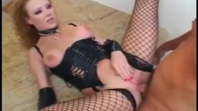 Sex in edwardian lingerie Dominatrix wearing a leather corset and fishnets fucking