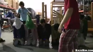 Party warehouse blowjob asshole
