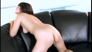 Her brunette heels busty and babe in fucks strips pussy fing with tight twistys