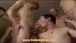 He wants to swallow our cocks Gay hardcore