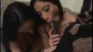 Big black cock threesome