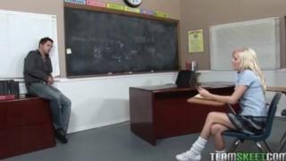 Cute blonde, Elaina Raye rammed hard by her prof Toys blowjob