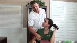 Preview 4 of Freckled cutie Katie Stives gets her trimmed pussy fucked hard