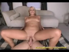 Hot blonde fucked in alley