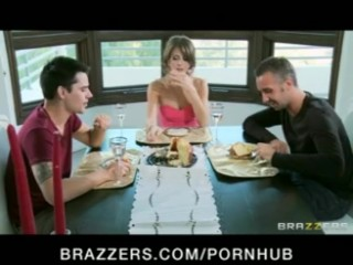 Hot young Brunette cheating wife fucks hubby's friend's big-dick - Brazzers