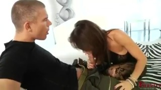 Franceska takes a big black one  big tits ass fucking ass bbc brunettes cuckold interacial skinny orgy interracial columbian mmf anal group double penetration monster cock huge dick