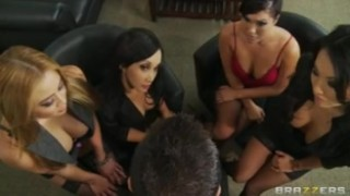 Four Hot Busty Asian Sluts in HOT orgy fuck boss' big-dick in office bclip orgy gang-bang boss work asian deep-throat office uniform japanese big tit orgasm brazzers busty group