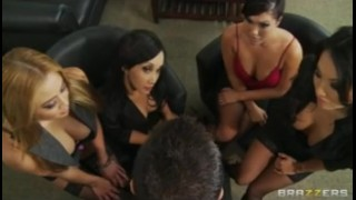 Four Hot Busty Asian Sluts in HOT orgy fuck boss' big-dick in office  gang bang asian brazzers busty orgy office japanese uniform orgasm group big tit work boss deep throat bclip