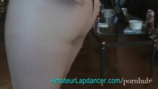 Doggy lapdance from BIG boobs blonde porno