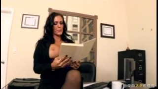 Boss tit hard big pussy brunette in wet ass is fucked squirting heels deep