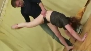 Flexible doll gets metal dildo hard in her juicy pussy