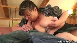Chubby lady riding cock after blowjob