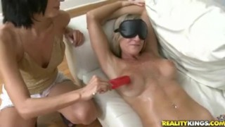 Barbie Doll Milf is Blindfolded, Rubbed and Fucked