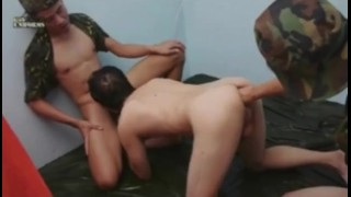 Dudes military workout gay cock