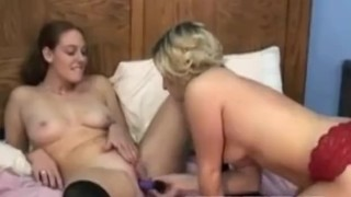 Redhead Mariah fucking a blonde with her toys