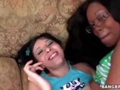 Big Ass Interracial FFM Threesome