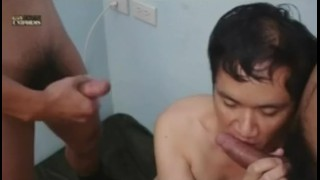 Asian Military In A Threesome Muscles hot
