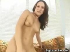 Big cock bangs tight babe