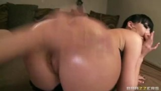 Horny big-tit & ass brunette slut fucked rough anal by hard dick