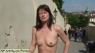Horny Girl Rossa Naked In Public Streets Cum ballerina