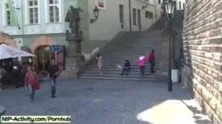 Horny Girl Rossa Naked In Public Streets