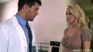 Hot Big-tit blonde MILF wife slut fucks doctor's big dick in clinic