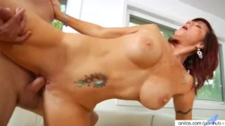 Bigtit cougar fucks her way to a facial