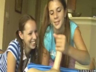 Awesome Two Girl Teen Handjob