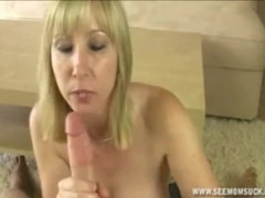 Blonde Mom Sucks Off Her Godson's Big Boner