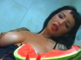 Sandra G. Watermelon Masturbation