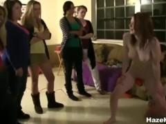 Sorority Sisters Stuff Vibrators & Tongue In Girls' Pussies