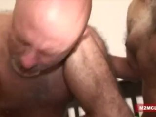 Hairy daddy gangbanged