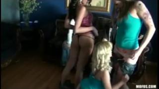 Horny teen college schoolgirl sluts fuck in gang-bang orgy party