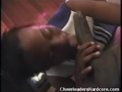 Cock Sucking Ebony Cheerleader