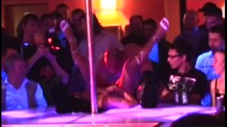 Porn on stage stripper babe gets fucked by profesional Thong cumshot