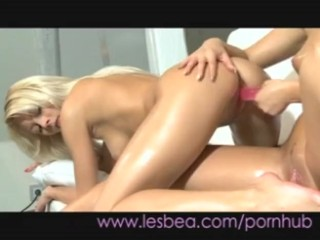 Lesbea Oily teens sliding together