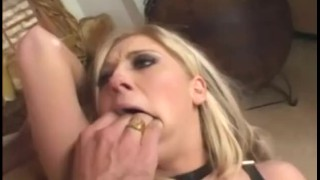 Stockings fucked fencenet in blonde boobed pink high big thigh big high