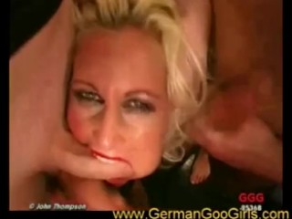 MILF Lola fucked in mouth and pussy