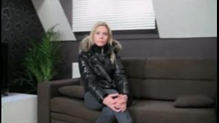 Sprayed blonde fakeagent gets horny spunk with fakeagent.com office