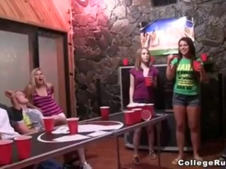 Horny Hot Girls Porn Beerpong And Blowjobs, Blowjob Teen College