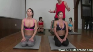 Dirty yoga instructors naughty lesson  big tits colombian femdom cfnm fetish skinny massage milf brunette mature latina group yoga mommy