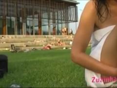 Masturbation and sex chat at the pool