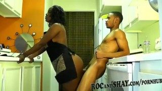Black Couple hard sex